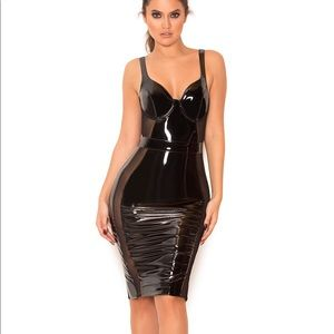 House of CB latex cut out bodycon dress